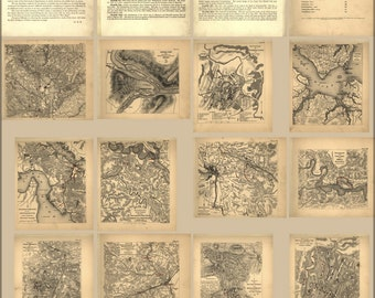 24x36 Poster; Map Of Civil War Battles In Virginia 1864