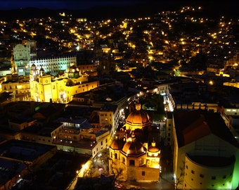 24x36 Poster; Guanajuato At Night, Guanajuato, Mexico