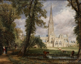 24x36 Poster; Salisbury Cathedral From The Bishop'S Garden By John Constable C1826