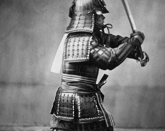 24x36 Poster; Samurai With Sword, Ca. 1860
