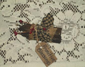 Handmade Grubby Primitive Candle Bundle, Tuck, Decoration, Ornament