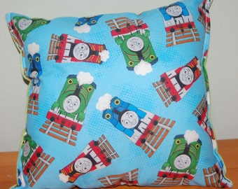 Thomas The Tank Engine Pillow Thomas The Train Pillow HANDMADE Cotton / Flannel Toddler ,Travel , Daycare, NEW Made in USA