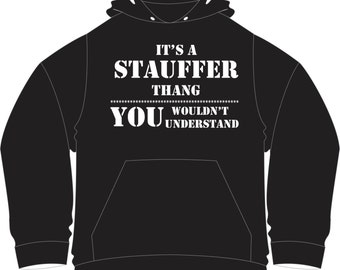 Hooded pullover sweatshirt you add your last name