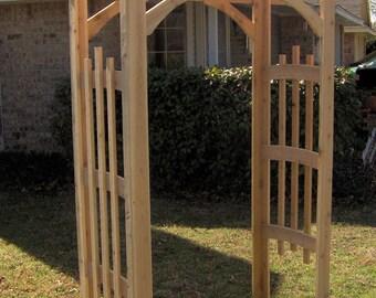 Brand New Decorative Cedar Garden Arbor - Free Shipping