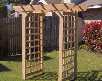 Brand New Large American Style Cedar Garden Arbor - Free Shipping
