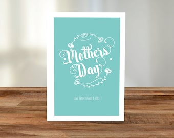 Personalised 'Mother's Day' A5 Card - Floral