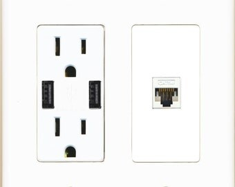 riteav 15 amp 125v power outlet 2 usb charger receptacle 2