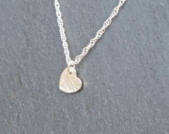 Dainty Heart Necklace/Pendant silver, silver heart, tiny heart necklace