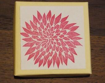 Dahlia Rubber Stamp