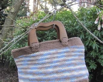 Handmade Crochet Handbag - Beachy Variagated