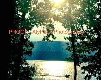 "8x10"" matte print - Canandaigua Lake Sunset"