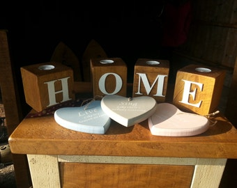 HOME/LOVE tea light holders