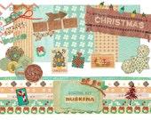 scrapbooking christmas digital kit