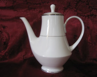 NORITAKE COFFEE SERVER - Toorak Platinum Design, 1987