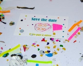 Save the date heart scratch card