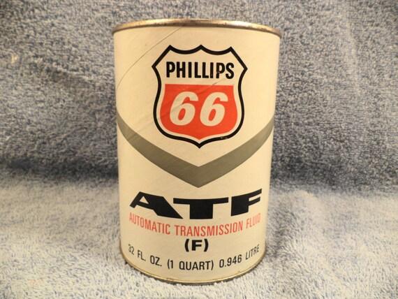 Phillips 66 Atf1 Quart Motor Oil Can