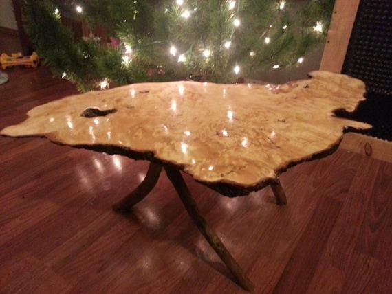 Alaskan Alder Burl Coffee Table By Alaskawoodcompany On Etsy