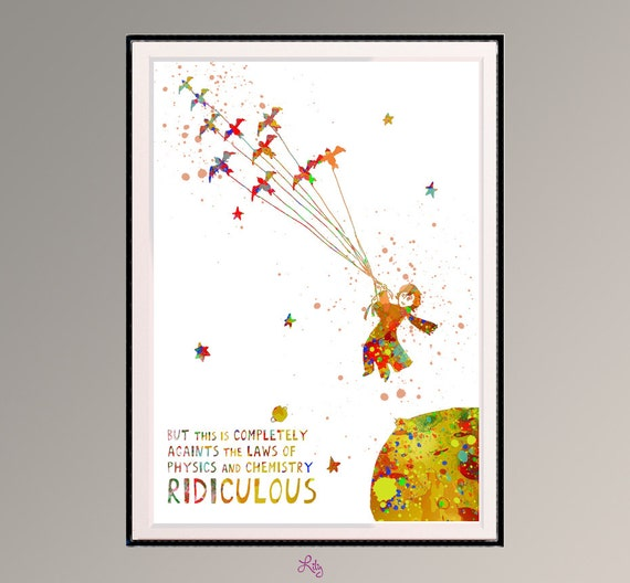 Items Similar To The Little Prince Quote Inspirational: Items Similar To The Little Prince Is Flying