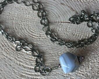 Bellingham necklace, Botswana agate necklace, rustic necklace, rustic jewelry, long necklace, bohemian necklace, bohemian jewelry, brass
