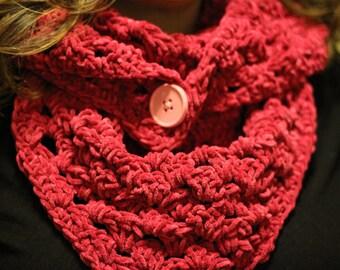 Pink Crocheted Shawl