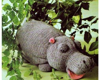 hippo toy dk knitting pattern 99p
