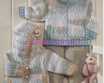 jackets and hat dk knitting pattern 99p