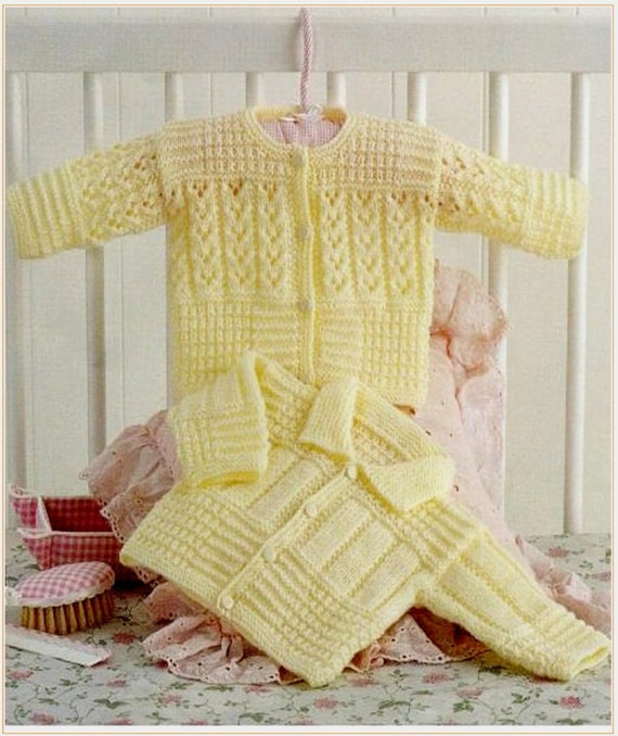 baby cardigans 4 ply knitting pattern 99p