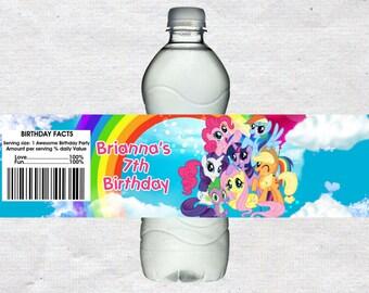 My Little Pony Water Bottle Labels My Little Pony Water labels