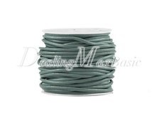 1 Roll/10m Gray Green Faux Leather Cord Wire Thread String 2x2mm New TC0122-50