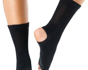 KNITIDO Open Five Toe and heel Yoga Socks w/ Non Slip Sole