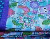 Pillowcases Bright Colorful  Child Little Girl Play Snuggle Purple Pink Blue Lime Green MatchesQuilt