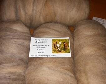 Alpaca Roving - Multicolor Cria Blend