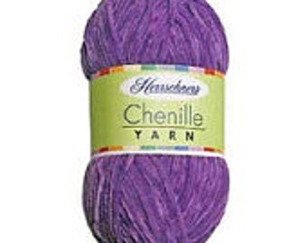 Yarn - Herrschner Chenille - Burnt Orange, Deep Purple, or Antique White