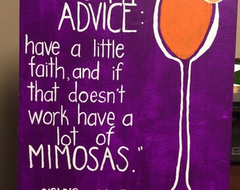Blair Waldorf Mimosa Quote Painting