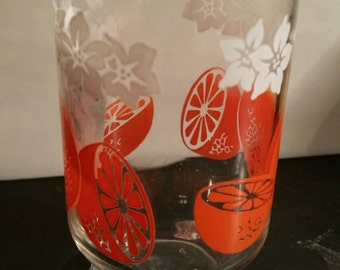 Orange slice juice glass