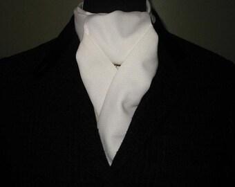 White Pique Stock Tie