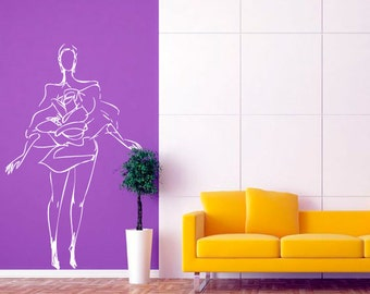 Wall decal Fashion Model, Fashion wall sticker, Model wall sticker, Vinyl wall sticker, Wall stencil, Wall decoration