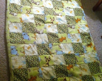 Hand tied cozy baby blankets