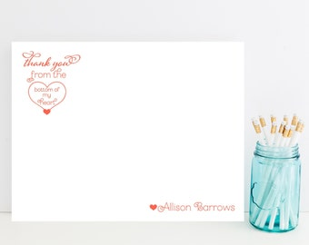 Thank You Stationery - Personalized Thank You Card Stationary - Sweet Stationery