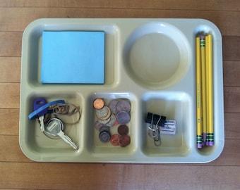 Beige School Lunch Tray Organizer