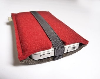 Wool felt case for iPhone