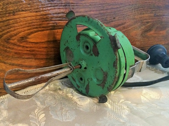 Pottery Electric Hand Mixer ~ Items similar to antique hand mixer vintage