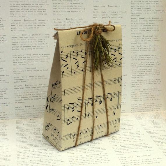 Sheet Music Gift Bag Template