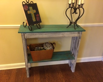 Distressed Pallet Table, Reclaimed Wood Table, Entry hall table.