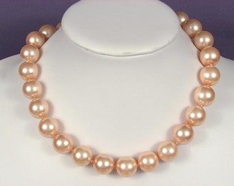Necklace Pink South Sea Shell Pearls 16mm NHSP0785