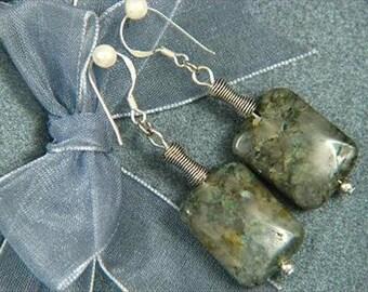 Earrings Serpentine 20mm Rectangles 925 ESSP1329
