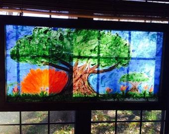 """Acrylic  painting """"Recycled Sunrise"""""""