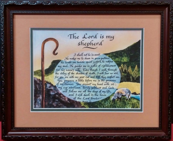 Psalm 23 The Lord Is My Shepherd Scripture By