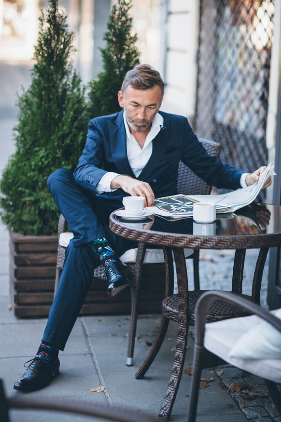 Gray Suit With Black Shoes