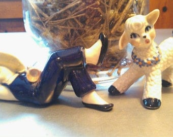 Little Boy Blue and His Sheep Figurines